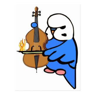El inglés Budgie toca el violoncelo bajo Postales