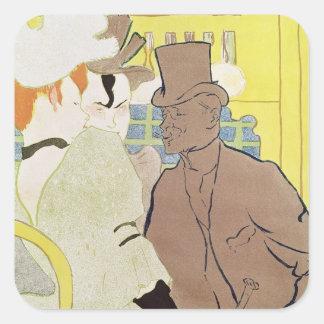 El inglés en el colorete, 1892 pegatina cuadrada