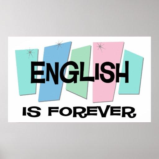 El inglés es Forever Póster