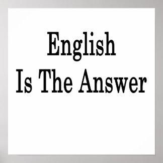 El inglés es la respuesta póster