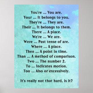 El inglés no es ése difícilmente póster