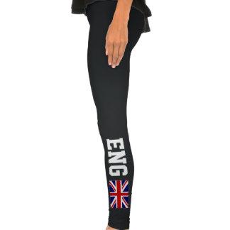 El inglés se divierte la bandera de las polainas e