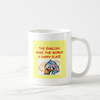 el inglés taza básica blanca