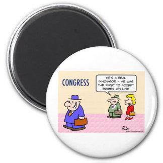 el innovador del congreso acepta sobornos en línea imán redondo 5 cm