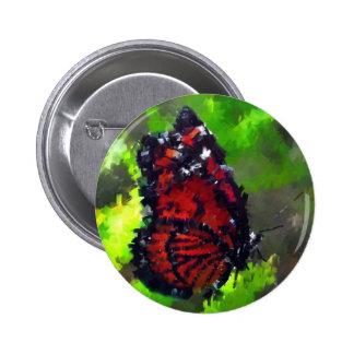 el insecto abstracto de la mariposa florece fauna pin redondo 5 cm