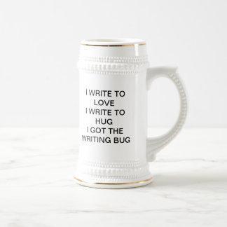 El insecto de la escritura jarra de cerveza