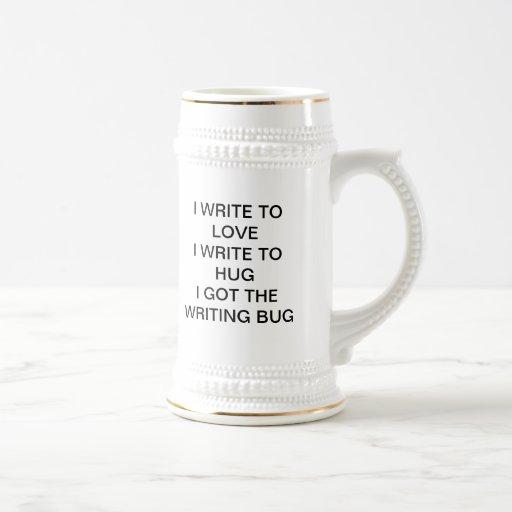 El insecto de la escritura taza de café