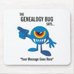 El insecto de la genealogía dice - personalizado tapete de raton