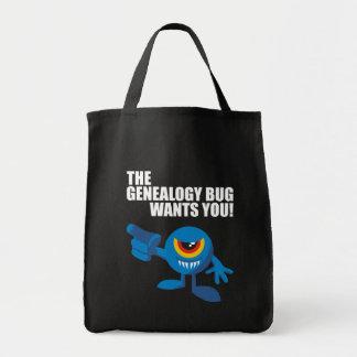¡El insecto de la genealogía le quiere! Bolsa De Mano