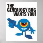 ¡El insecto de la genealogía le quiere! Posters