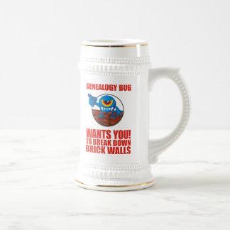El insecto de la genealogía rompe las paredes tazas de café