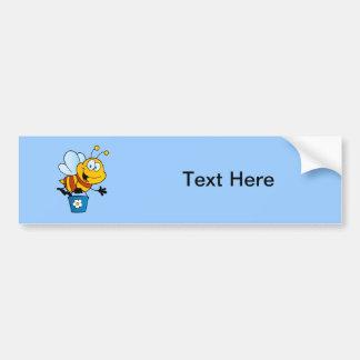 El insecto de las abejas de la abeja fastidia el a pegatina para auto