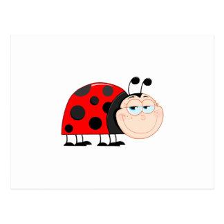 El insecto de las mariquitas de la mariquita postal