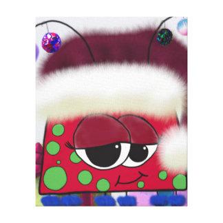 El insecto del amor del navidad lienzo envuelto para galerias