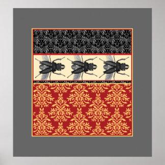 El insecto elegante - insectos en el poster del br