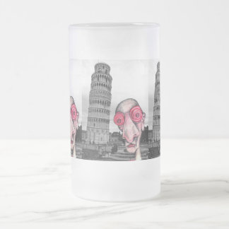 """El Insomniac visita """"la torre inclinada de Pisa """" Taza Cristal Mate"""