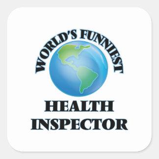 El inspector más divertido de la salud del mundo pegatina cuadrada