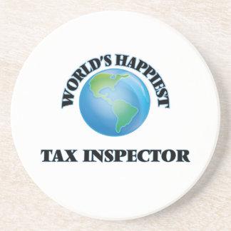 El inspector más feliz del impuesto del mundo posavasos personalizados