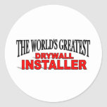 El instalador más grande de la mampostería seca pegatina redonda