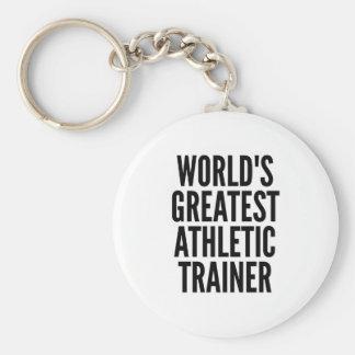 El instructor atlético más grande de los mundos llavero redondo tipo pin