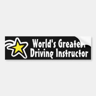 El instructor de la conducción del mundo/el profes pegatina para auto