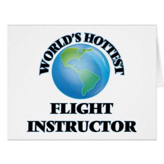 El instructor más caliente del vuelo del mundo tarjeton