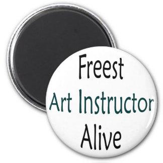 El instructor más libre del arte vivo imán de frigorifico