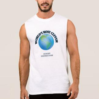 El instructor más listo del vuelo del mundo camisetas sin mangas