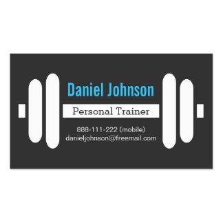 El instructor personal de la aptitud moderna carga plantilla de tarjeta de negocio