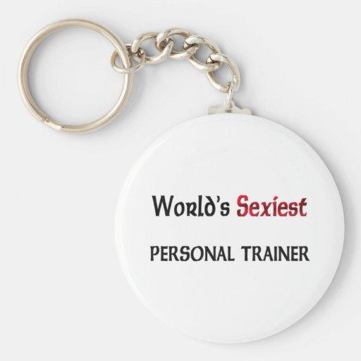 El instructor personal más atractivo del mundo llavero redondo tipo pin