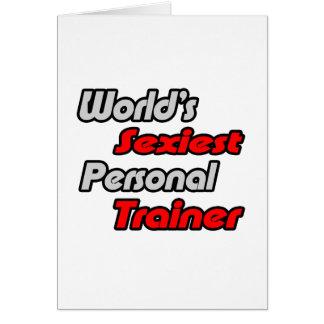 El instructor personal más atractivo del mundo tarjeta de felicitación