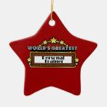 El instructor personal más grande del mundo adorno navideño de cerámica en forma de estrella