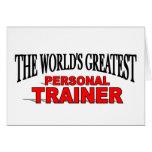 El instructor personal más grande del mundo tarjeta
