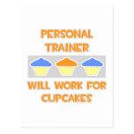 El instructor personal… trabajará para las magdale tarjeta postal