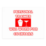 El instructor personal… trabajará para los cóctele postales