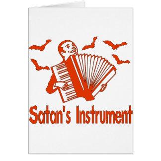 El instrumento de Satan Tarjeta De Felicitación
