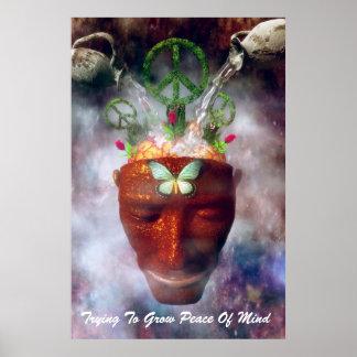 El intentar crecer paz interior póster