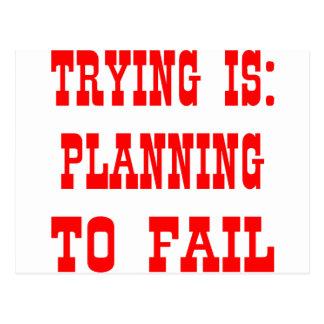 El intentar es: Planificación fallar Postal