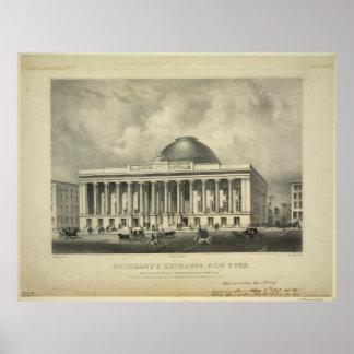 El intercambio Nueva York (1837) de los comerciant Impresiones