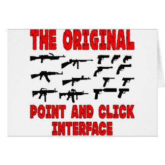 El interfaz original del punto y del tecleo = arma felicitacion