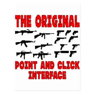El interfaz original del punto y del tecleo = arma tarjeta postal