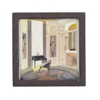 El interior con muebles diseñó por Ruhlmann, de Cajas De Joyas De Calidad