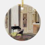 El interior con muebles diseñó por Ruhlmann, de Adorno De Navidad