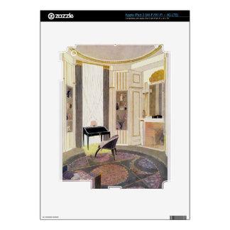 El interior con muebles diseñó por Ruhlmann, de iPad 3 Skins