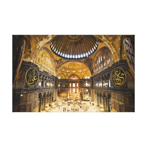 El interior de Hagia Sophia en Estambul Lienzo Envuelto Para Galerías