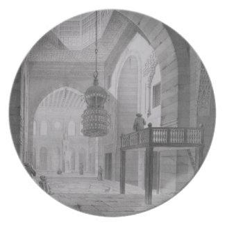 El interior de la mezquita del Kaid-Bey, platea 55 Platos Para Fiestas