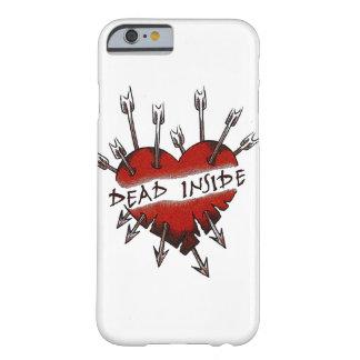 El interior de los muertos perforó el corazón funda de iPhone 6 barely there