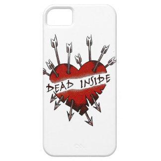 El interior de los muertos perforó el corazón iPhone 5 Case-Mate protector