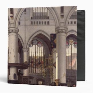 """El interior de Oude Kerk, Amsterdam, c.1660 Carpeta 1 1/2"""""""