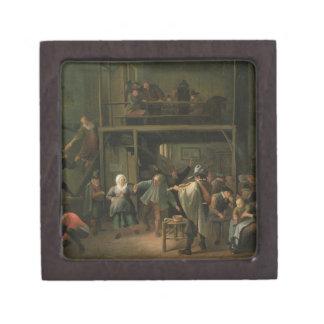 El interior de una taberna con un par que baila a cajas de recuerdo de calidad
